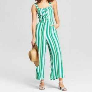 A New Day Striped Jumpsuit EUC